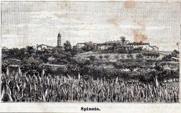 Veduta di Spineto da «Le Cento Città d'Italia» 1890 circa.