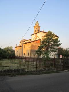Vista della chiesa parrocchiale di S. Giacomo dall'abside.